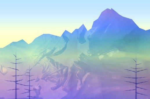早朝の夏山