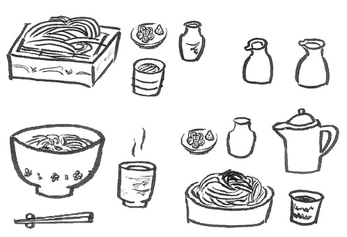 It is a soba set. It is good if it is delicious.