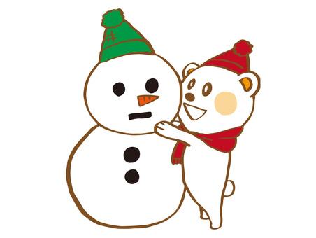 White Bear and Snowman