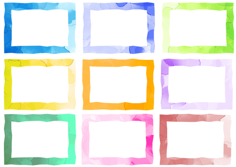 Watercolor style frame