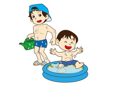 수영장에서 놀자!