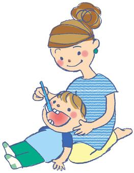 Finish polishing (tooth brush)