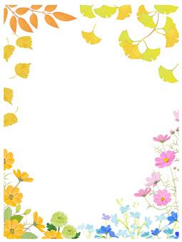 Autumn flower frame 5