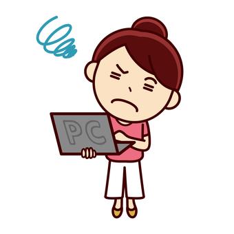 筆記本電腦的女孩