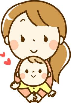 Bé và mẹ
