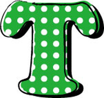 Dotted alphabet T
