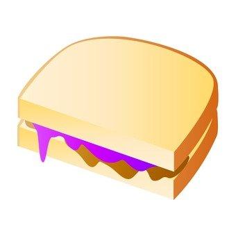Berry chocolate sandwich