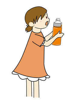 Child with PET bottle