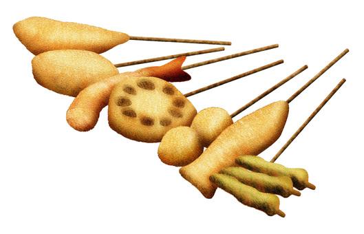 炒豬肉和那迦的串