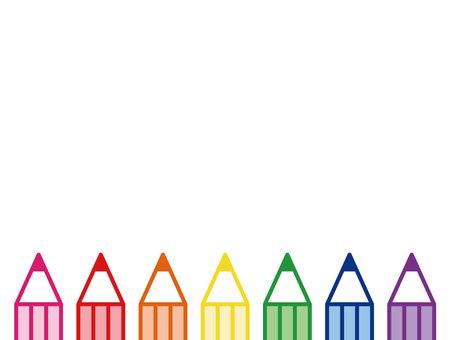 Rainbow colored pencil frame