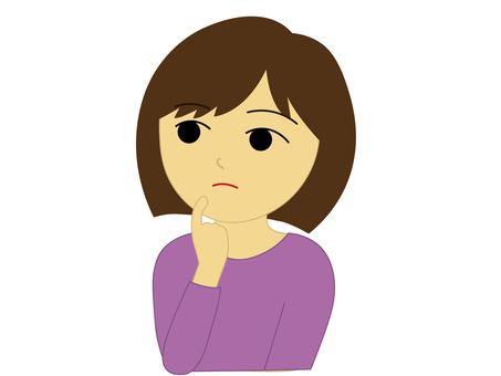 Female _ Thinking face _ 1
