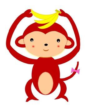 Banana-loving monkey