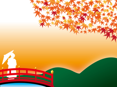 Autumn leaves and bridges