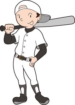 野球くん立ちポーズ