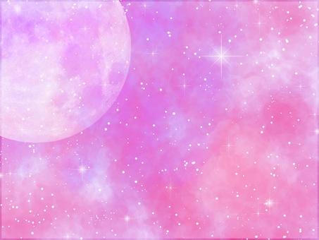 Watercolor moon pink