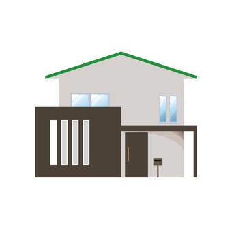 A detached house illustration 14