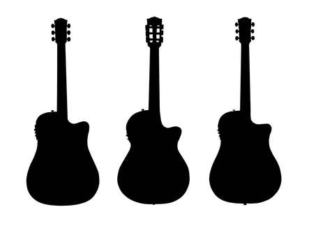 Guitar silhouette 3