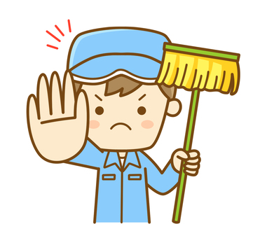 Cleaning staff to stop