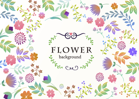 Background material / handwritten flower [horizontal]