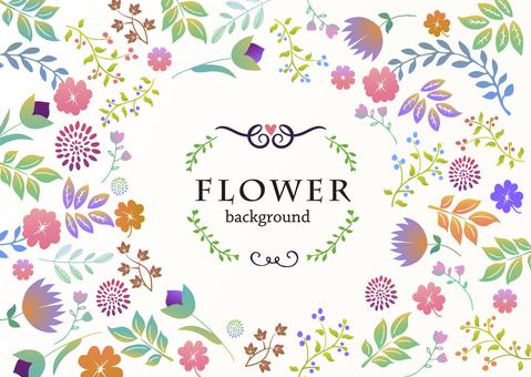 Background material / handwritten flower [horizontal]