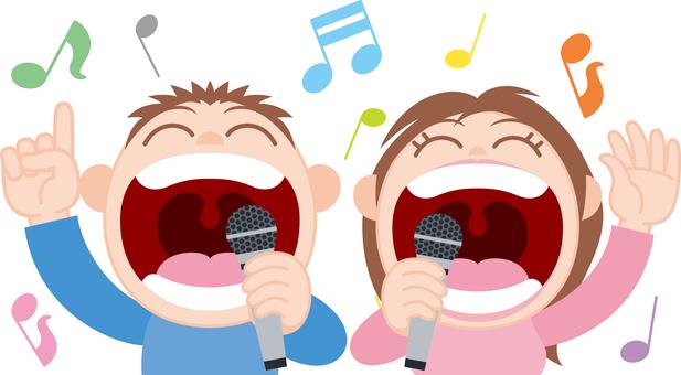 卡拉OK二重唱唱歌麥克風