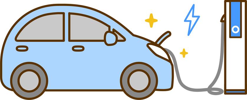 충전중인 전기 자동차
