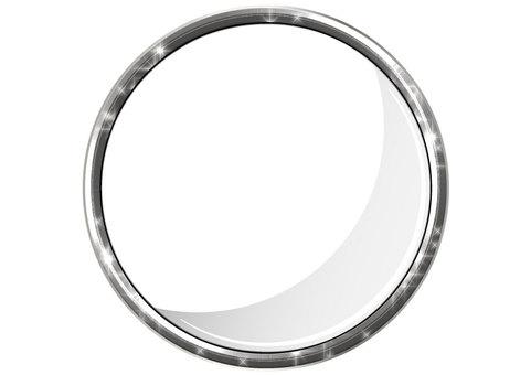 Shiny Silver Silver Round Frame Frame