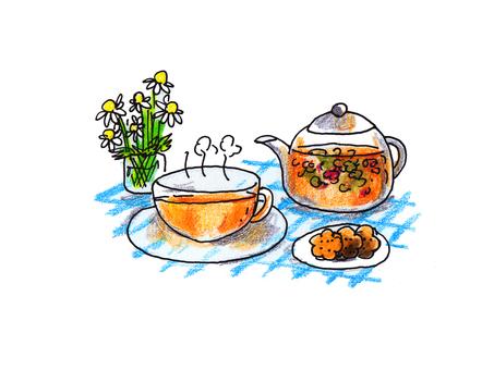 How to put herb tea (4)
