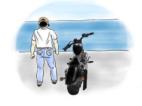 자전거와 바다