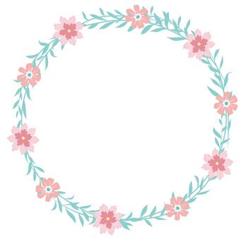 圓形花框架