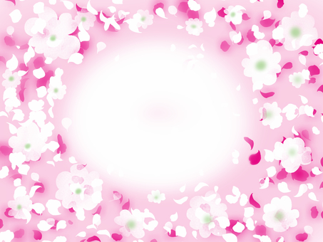 White flower pink wind