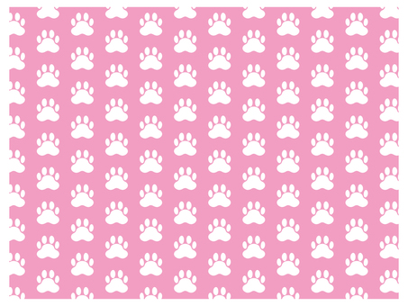 Dog footprint illustration background material