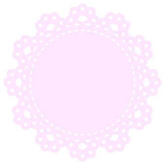 Round lace (pink)