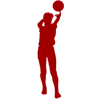 Female Valley player silhouette