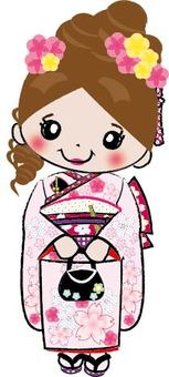 The seven-year-old Shichigosan girl