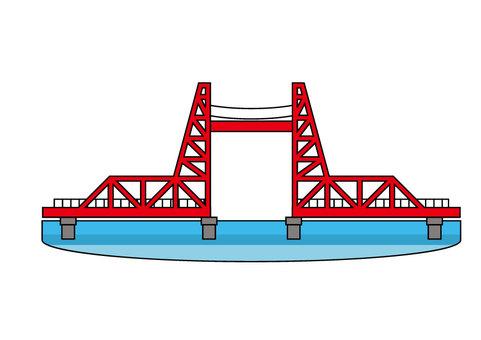 Chikugo River rising bridge