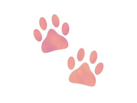 Yume cute footprint meat ball pink