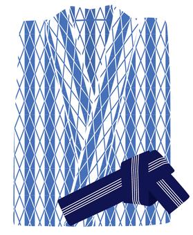 Yukata (light blue)