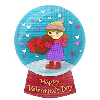 발렌타인 스노우 글로브 4 (붙여 그림 바람)