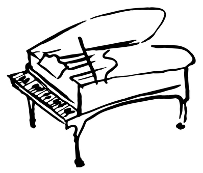 Piano Hand-drawn illustration