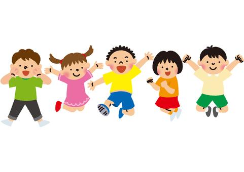 점프하는 아이들 반팔