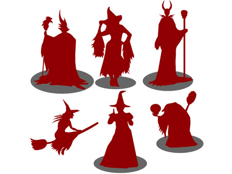 Witch's silhouette 2