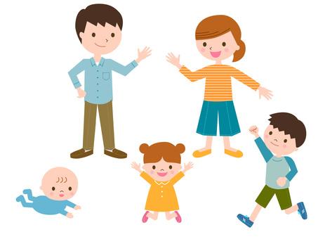 5-person family