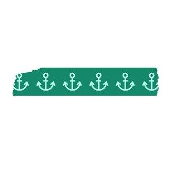 Masking tape anchor