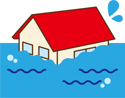 A flooded house