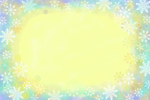 Snow frame background yellow