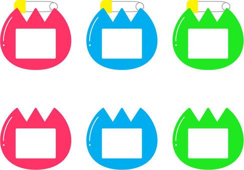 Tulip badge _ colorful
