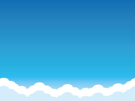 藍藍的天空,雲彩背景圖