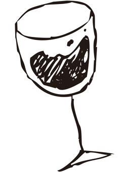 Glass of wine (line drawing)