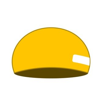 Yellow swimming cap